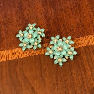 vintage Coro flower patch earrings